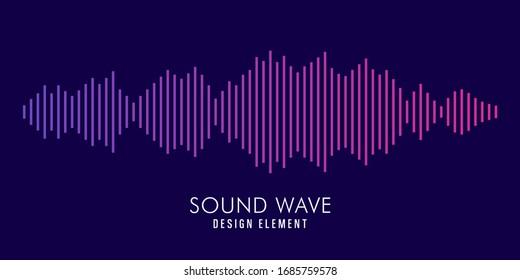 Modern Sound wave equalizer. Vector illustration on dark background - Vector Illustration - EPS 10