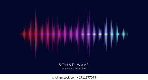 Modern sound wave equalizer. Vector illustration on dark background - EPS 10