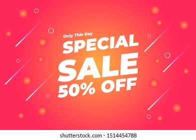 Modern Special Sale Banner and Poster Background Vector. Editable Text and Color.