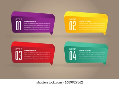 modern speech bubble 3d, text box template, banner