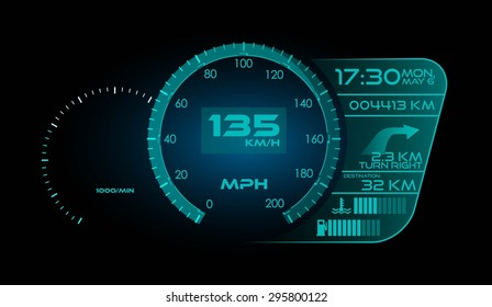 Modern Speedometer Interface