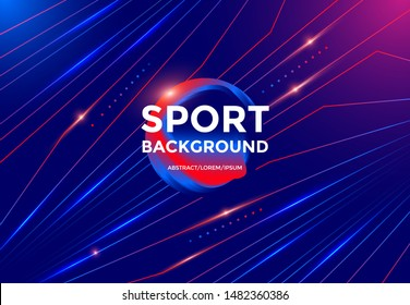 Modern Sport background design with dynamic gradients lines and shapes. Vector abstract geometric trendy illustration