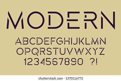 Modern sport font Geometric tech design Futuristic cool letters and numbers Super hero abc Vector alphabet