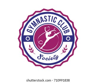 Modern Sports Badge Logo - Gymnastic