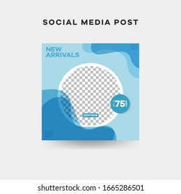 Modern square editable banner template. Promotional for social media post and web.