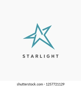 Modern star logo design. Business and corporate icon template