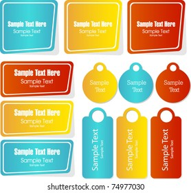 modern stickers and tags