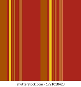 Modern stripe pattern with Maroon red, Yellow and Brown colors vertical parallel stripe design for shirt printing, textiles, jersey, jacquard patterns, wrapping, websites. Vector abstract background.