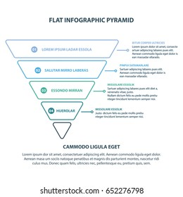 Modern Style Abstract infographic Pyramid number options template Vector illustration can be used for workflow layout diagram business step options banner web design outlined