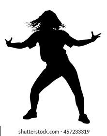 Hip hop silhouette