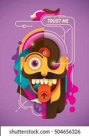 Modern style illustration in color. Vector illustration.
