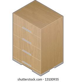 Modern Style Large Wooden Closet