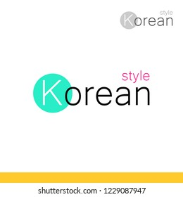 Modern style Logotype for Business in Korea with Creative Concept - Vector emblem.