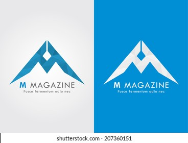 Modern style and sharp M alphabet for your business success. M logo.