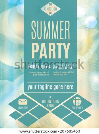 modern style summer party flyer template stock vector royalty free