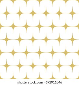 Modern stylish abstract design with aligned stars in gold. Seamless vector pattern
