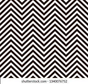Modern stylish abstract texture black a white geometrical zigzag. Vintage stripe style seamless ornament.