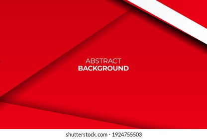 Modern stylish red background with paper effect