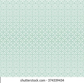 Modern stylish texture with flowers. Seamless vector pattern. Repeating geometric tiles. Blue and white ornament