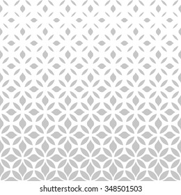 Modern stylish texture with flowers. Vector pattern. Repeating geometric tiles.