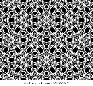 Фотообои Modern stylish texture. Repeating abstract background with chaotic strokes.Vector monochrome seamless pattern