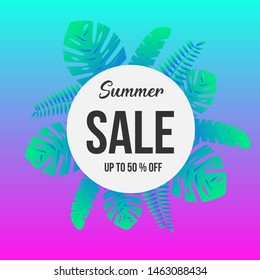 Modern Summer Sale Gradient Banner and Poster Background for Market, Supermarket and Social Media Use.