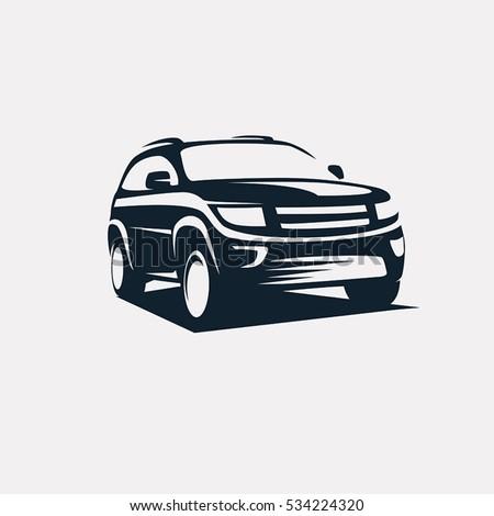 modern suv logo template offroader car のベクター画像素材