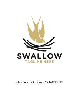 modern swallow's nest logo design