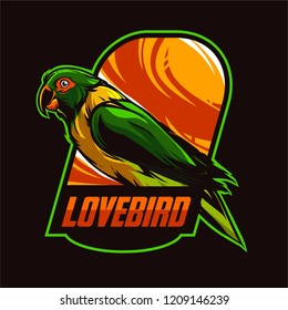 Modern t shirt design lovebird vector art