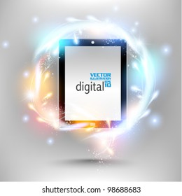 modern tablet with digital flare design
