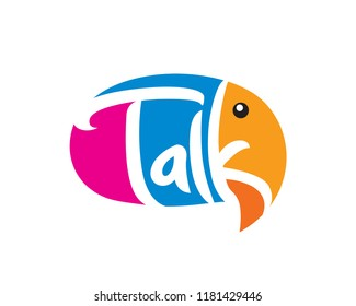 Modern Talk Speech Bubble Elephant Logotype Illustration In Isolated White Background