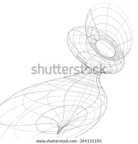 Modern Technology Black White Stylish Background Stock Vector