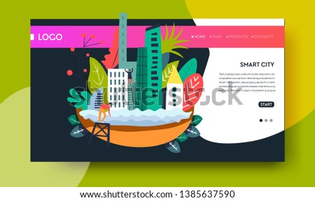 Modern Technology Smart City Online Web Stock Vector (Royalty Free