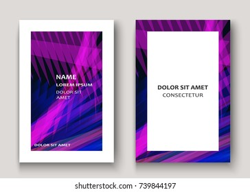 Modern technology striped abstract covers design purple. Neon lines background frame. Trendy geometric template vector illustration for Cover Report Catalog Brochure Flyer Poster Banner Card