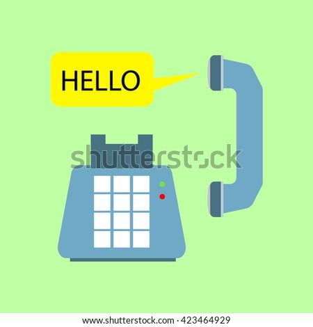 modern telephone conversation flat design illustration