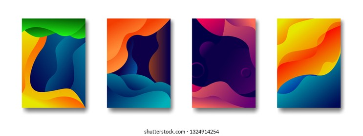 modern template cover design. dynamic shape abstract illustration with fluid style.