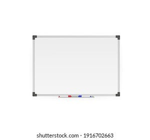 Modern template. Flat whiteboard. Blank screen isolated. Flat vector illustration. Vector drawing. Isolated object.