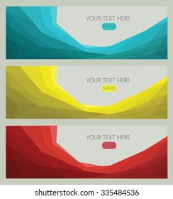 Modern template set abstract. Vector background