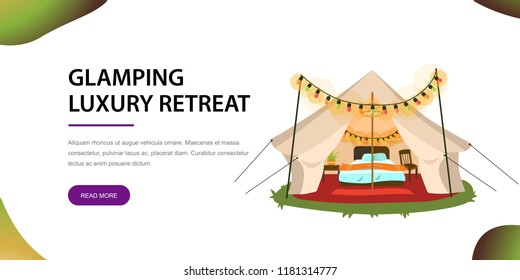 Modern tent with furniture poster