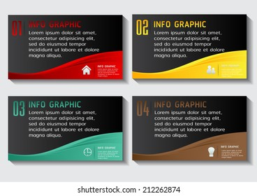 modern text box template for website and graphic, numbers, icon.