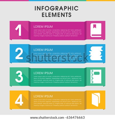 modern textbook infographic template infographic design stock vector