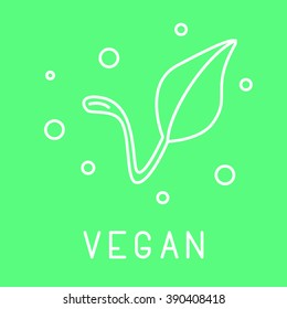 Modern thin design illustration. Use it for marking packs of healthy food free of gluten, sugar, gmo, milk, trans fat,eggs,nuts,soy, honey, bpa, sls. Vegan, fair traide, no gmo, organic marking.