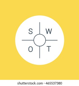 Modern thin line SWOT analysis Icon. Flat design marketing and business linear vector. Can also be used for startup, banking, finance, business.