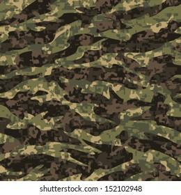 Modern Tiger Stripe Camouflage Seamless Background Pattern