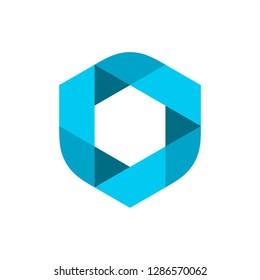 modern transparent logo design inspiration . circle logo . pentagon logo . logo template . abstract