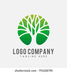 modern tree logo concept, tree icon vector
