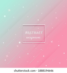 Modern and trendy abstract pink green color gradient background with geometric shape. You can use for ad, poster, template, business presentation. Vector illustration