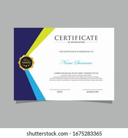 Modern trendy certificate template and background