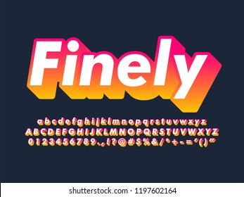 modern trendy gradient font effect for young millennial culture