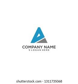 modern triangle letter A logo vector